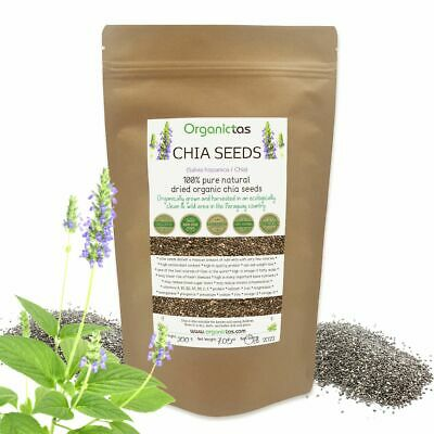 Organic CHIA SEEDS Pure Raw Whole Natural Detox Weight Loss Superfood BIO 100g