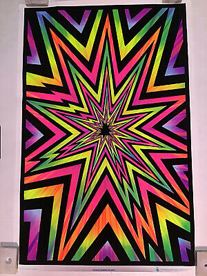 D221 Blacklight Paintings Psychedelic Abstract Art Trippy Poster Print Decor