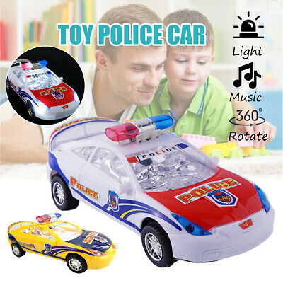 Electric Police Car Model Toy With Light Kids Child Music Sound Children Gift -