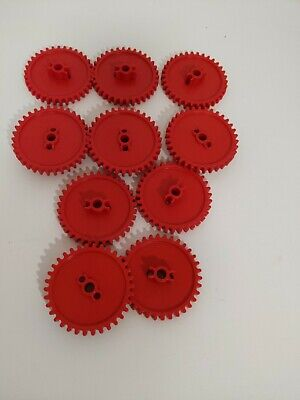 "2 1//4/"" Red /& Gray//Silver and 1/"" Gears KNEX GEAR LOT Gold,Blue,Grey Bulk Parts"