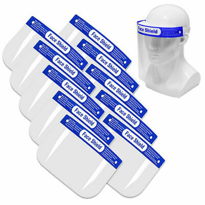 10x Anti-Splash Face Safety Shield Reusable Washable Protection Cover Face Mask