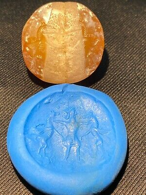 Ancient Sasanian Chalcedony stamp seal