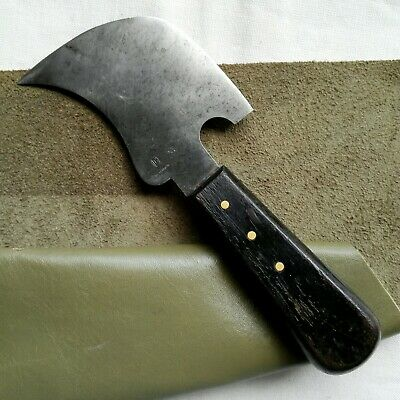 Halbmond/Lederverarbeit./Sattlermesser /Old Saddler Knive West Germany C-Stahl