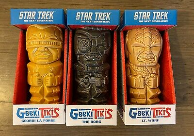 Star Trek Geekis Tikis Tiki Mugs - Set of 3 - NEW