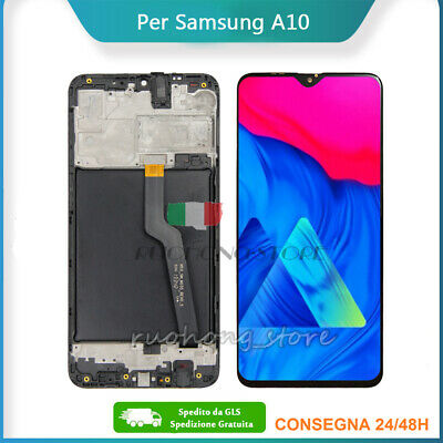Display LCD Touch Screen Frame Per Samsung Galaxy A10 2018 SM-A105FN/DS Nero IT