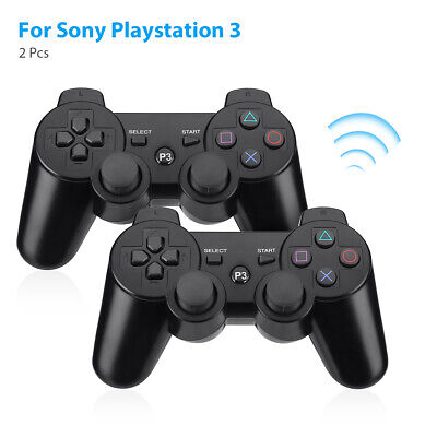 2x Black Wireless Bluetooth Game Controller Pad For Sony PS3 Playstation 3 USA