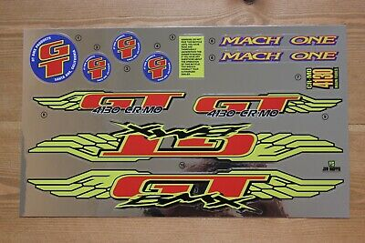 Reproduction 1997 GT Mach One BMX Decal Set-Chrome Support