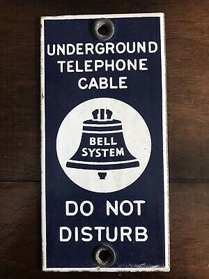 RARE NOS VINTAGE VERIZON FACILITIES BEFORE YOU DIG CALL 811 TAG TELEPHONE SIGN