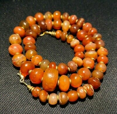 Ancient carnelian agate beads necklace from ancient civilization Popular Item 2