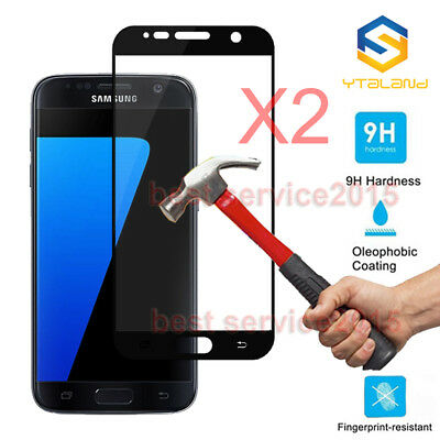 2Pcs 9H Full Covered Tempered Glass Film Screen Protector For Samsung Galaxy S7