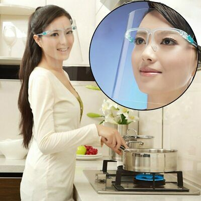2pcs Faceshield Transparent Full Face Cover Safety Protective Film Tool Anti-Oil