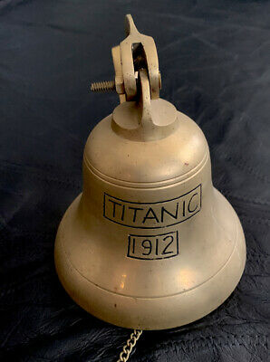 Titanic 1912 Bell Replica Wall Mountable Hanging Ship's Bell Brass