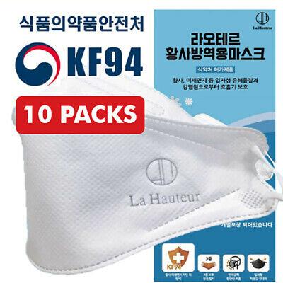 30 PCS La Hauteur KF94 Mask Made in Korea Surgical Medical FDA Approved Face