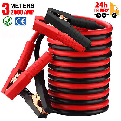 900 Amp Starter Jump Leads 5M Heavy Duty Car Van Booster Cables Recovery