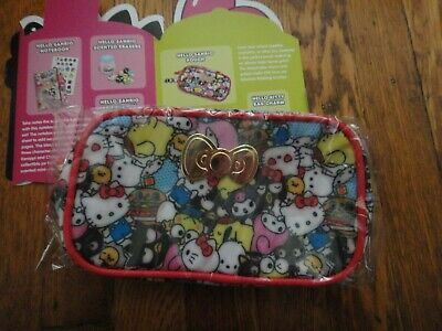 Sanrio Hello Kitty Pencil Pen Stationery Holder Case Makeup Bag Storage Pouch