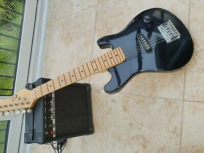 3rd Avenue 1//4 Size Junior Electric Guitar Black New opened boxes