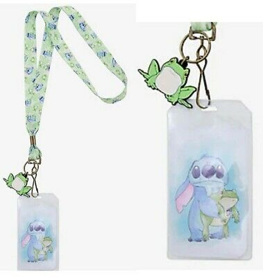 Disney: LOUNGEFLY Lilo and Stitch STITCH WITH FROG LANYARD - NEW!