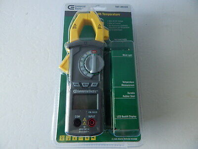 Commercial Electric Clamp Meter with Temperature 600V AC/DC Voltage New
