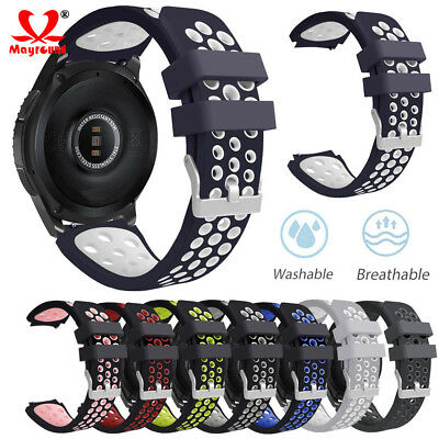 Silicone Bracelet Strap Replacement Watch Band For Samsung Galaxy Watch 42/46mm