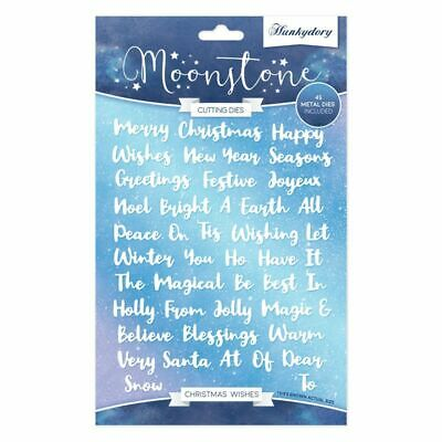 Christmas FREE UK P/&P Moonstone Cutting Dies Festive Moments Hunkydory