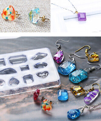 Silicone Mold Crystal Jewelry Pendant Earrings Resin Mould Craft Making Tool DIY