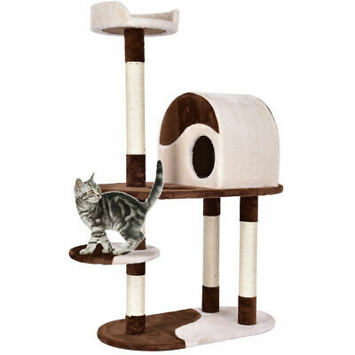 48'' Cat Tree Kitten Activity Tower Furniture Condo w Perches Scratching Posts