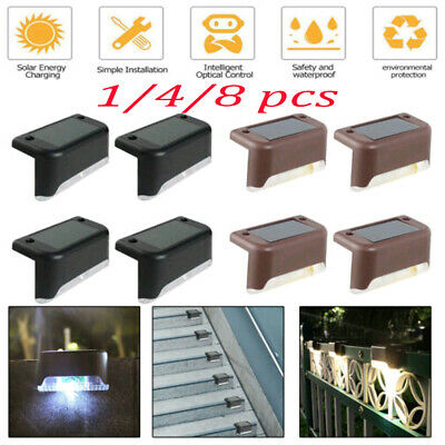 4//12//16PC Solar Power Fence Deck Lights Wall Step Stairs LED Outdoor Garden Lamp