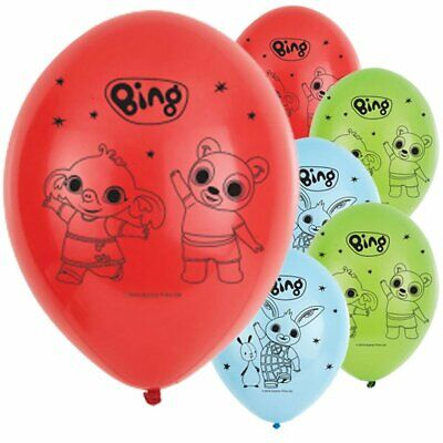 """Bing Flop 11"""" Latex Balloons 6 Pack Children's Birthday Party Decoration"""