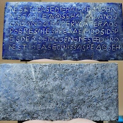 Relief tablet Ancient greek lapis lazuli stone writing Roman     # 38