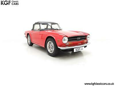 A Matching Numbers UK Triumph TR6 PI with 57,234 Miles and Three Owners