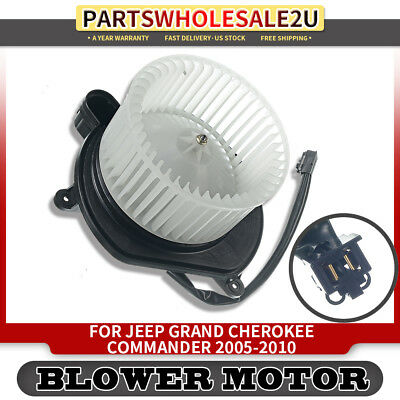 5143099AA Heater Blower Motor with Cage HVAC Blower Motor Assembly for 2006 2007 2008 2009 2010 Jeep Commander 2005 2006 2007 2008 2009 2010 Jeep Grand Cherokee Replaces 700168