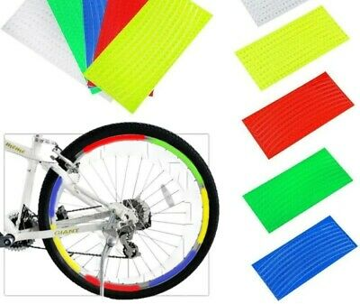 Reflective Stickers Bicycle Tire Wheel Fluorescent Decal Bike Reflector Rim Q0W8