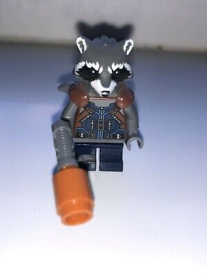 Lego 76102 Super Heroes Minifigur Rocket Raccoon Dark Blue Outfit sh384 Neu New