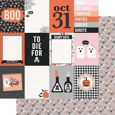 """Happy Haunting Double-Sided Cardstock 12/""""X12/"""" 4/""""X4/"""" Elements 811958035675"""