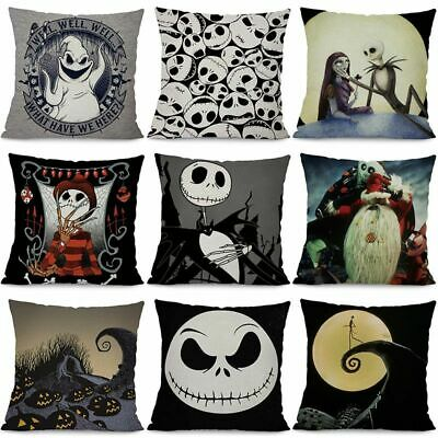 NIGHTMARE BEFORE CHRISTMAS Cushion Cover LOCK, SHOCK and