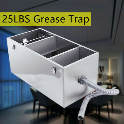 25LB Stainless Steel 13GPM Gallon Per Minute Grease Trap Interceptor W/ Basket