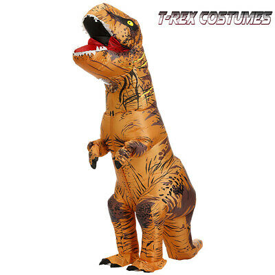 T-rex Dinosaur Inflatable Costume Suit Out/Kids Jurassic Cosplay
