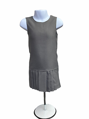 Girls Kids School Grey Pinafore Dress 3 to 10 Years