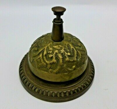 Hotel Front Desk Bell Brass 20th Century