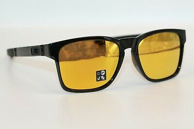 Oakley Catalyst Sunglasses OO9272-04 Polished Black Frame W/ 24K Gold Iridium