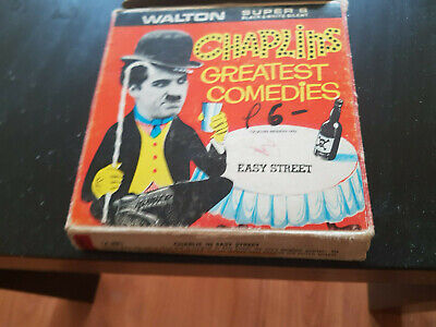 Easy Street - Charlie Chaplin 200Ft Super 8 8Mm B/W Silent Cine Walton Film