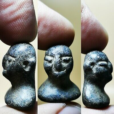 100 BC ancient Bactrian   stone  king head Face statue..   # 47