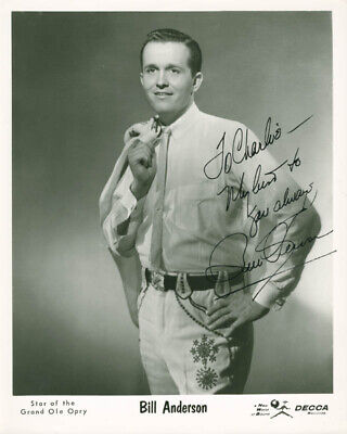 """Bill """"Whispering Bill"""" Anderson - Inscribed Photograph Signed"""