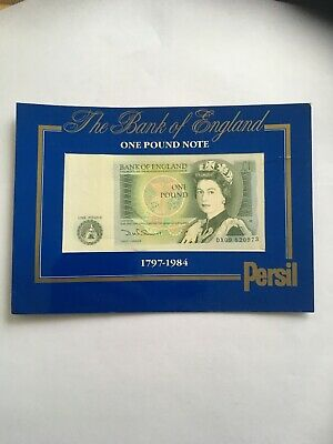 BANK OF ENGLAND ONE POUND (£1) NOTE NEWTON UNC Condition Somerset Persil promo