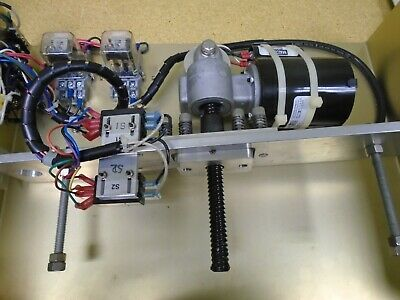 ROTARY TO LINEAR ACTUATOR with 12 VOLT CONTROLS and 120 VOLT AC MOTOR