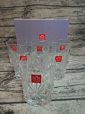 RCR Melodia 6x Crystal Whisky Glasses Italian Whiskey Drinking Cocktail Glasses
