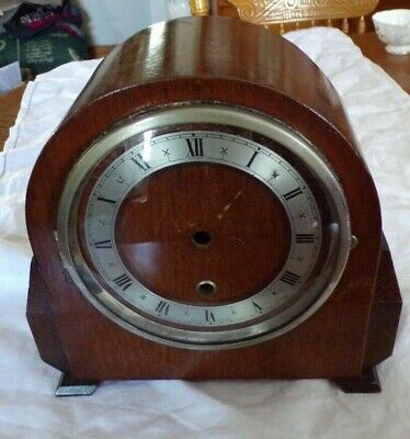 Vintage Empty ENFIELD Oak Mantel Clock Case, Spares/Repair