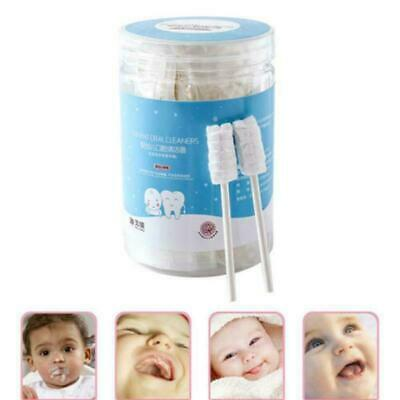 30 PCS Baby Oral Care Tongue Cleaner Disposable Soft Cotton Gauze Toothbrush