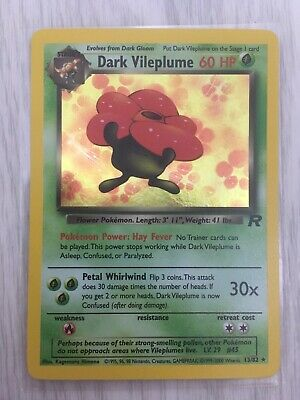Pokemon Team Rocket Dark Vileplume Rare 30//82 Near Mint Condition
