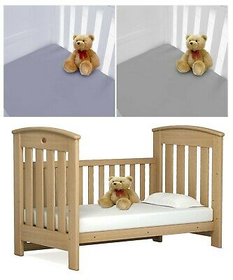 NEW Pack Baby Toddler Cot Bed Fitted Sheet 70cm x 140cm Pillowcase PolyCotton